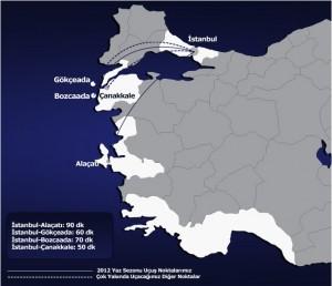 Seabird_Airlines_uçuş_haritası_yaz_2012