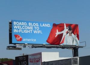 Virgin America inflight wifi billboard