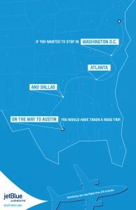 jetBlue New York - Austin Reklamı