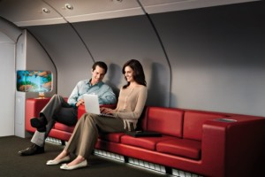 Qantas A380 Business lounge
