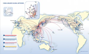 China Airlines network