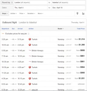 Google Flight Search_London_Istanbul