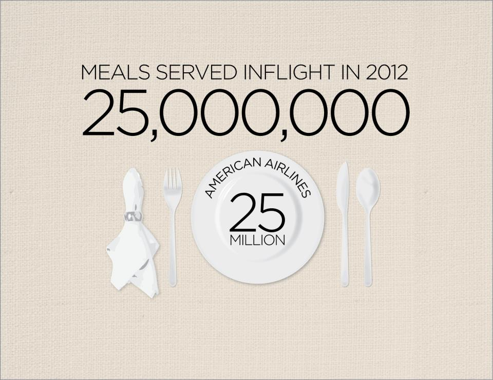 American Airlines Meals Served Inflight