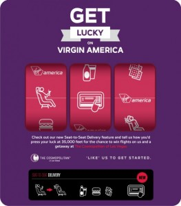 Virgin America_get lucky_options