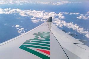 Alitalia A330-200 wing