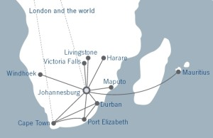 Comair_British Airways_route network