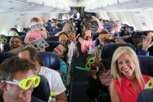 Southwest Airlines launches its first ever international flights on Tuesday, July 1, 2014. The first flight landed in Montego Bay, Jamaica. // Michael Nutting