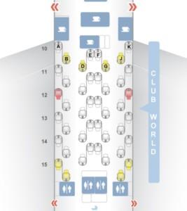 British Airways-A380-Business Class-map