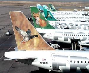 Frontier Airlines_ucak_kuyruk_hayvan