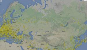 Siberia Flight Radar