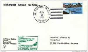 Lufthansa First Flight Houston - 2 June 1985