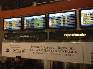 Qatar Airways Airport Ad @ Istanbul Sabiha Gokcen Airport SAW