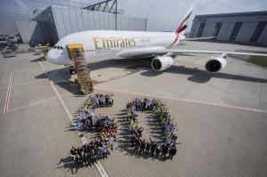 Airbus A380 50th Emirates