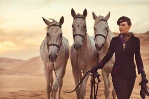 Etihad Airways_new brand_new uniform_Dec 2014_horse