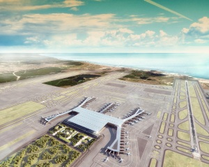 Istanbul_IST_new airport_Grimshaw_aerial-view