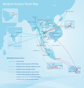 Bangkok Airways_Route Map_22 Jan 2015