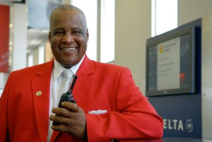 Delta Air Lines_Airport Staff_Red Coat