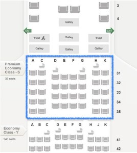 Singapore Airlines_Premium Economy Class_Airbus A380_seat map