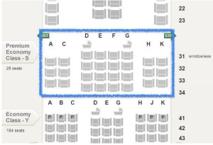 Singapore Airlines_Premium Economy Class_Boeing 777-300ER_seat map