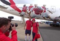 Arsenal Boeing 777 timelapse Flight to Singapore Emirates