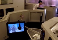 Cathay Pacific Business Class - Hong Kong to Beijing
