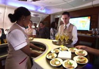 Exclusive onboard preview of Dom Pérignon Vintage 2005 Emirates Airline