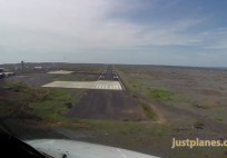 PilotCAM A319 into Galapagos Islands