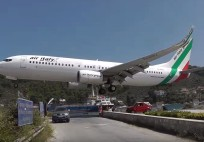 LOWEST 737 LANDING EVER! @ Skiathos