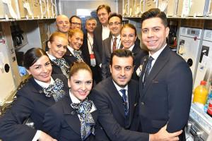 THY_Turkish Airlines_Miami_Inaugural Flight_October 2015_Cabin Crew