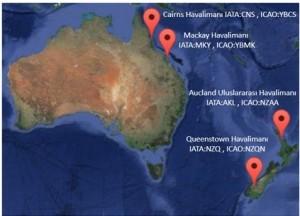 Avustralya ve Yeni Zelanda Havalimanlari