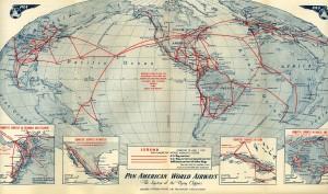 Pan American World Airways_route map_1948