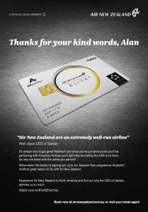 Air New Zealand_airpoints_guerilla marketing_Qantas_Alan Joyce