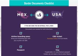 Cross Border Xpress (CBX)_border documents check-list