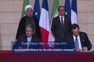 İran - Airbus uçak siparişi anlaşması (Ocak 2016)