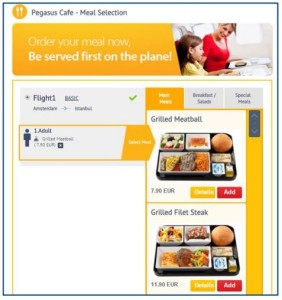 Pegasus Airlines_Cafe_meal selection