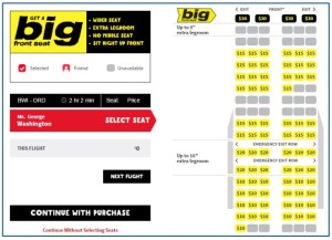 Spirit Airlines_seat selection