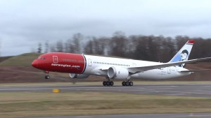 Norwegian Boeing 787-9 Dreamliner being assembled and painted