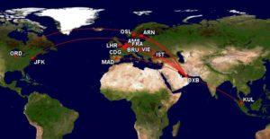 Emirates_Malaysia Airlines_Kuala Lumpur KUL_Dubai DXB