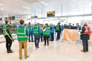 Munich Airport_new satellite terminal_January 2016 Trial operation begins with 3,500 extras