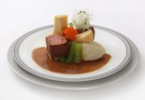 Singapore Airlines_inflight meal_Sous vide Miso Simmered Beef Yamato-style