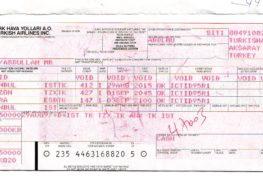 THY_Turkish Airlines_old ticket_eski bilet