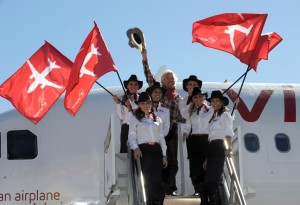 Virgin-America-First-Flight-cowgirls