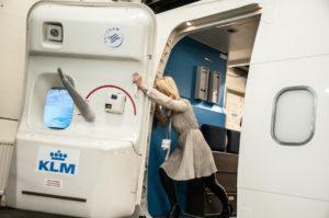 KLM uçak kapısı