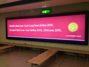 Norwegian Ad @ London Gatwick Airport Terminal South (June 2016)