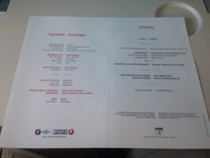 THY_Turkish Airlines_Inflight Menu Card_Economy Class_Berlin_Istanbul_June 2016
