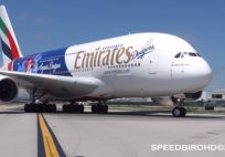 Emirates 'Dodgers Livery' Airbus A380-800 [A6-EON] at LAX