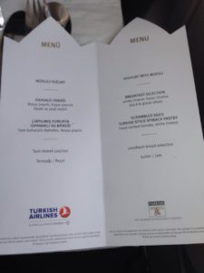 Turkish Airlines Inflight Menu Card - Economy-Class (Istanbul-Helsinki) - July 2016