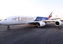 Timelapse painting of Los Angeles Dodgers A380 - Emirates Airline