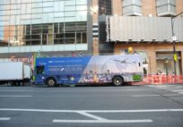 ANA Bus Ad in New York Downtown Tokyo in a New York Minute Haneda / October 30, 2016