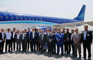 Embraer E190, İran'da tanıtım uçuşu yaptı. (Eylül 2016)